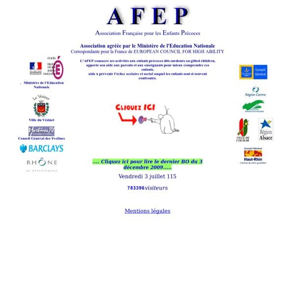 Afep - association française pour les enfants précoces - enfants surdoués - enfants précoces