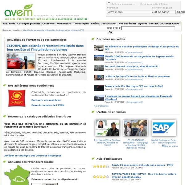 Association AVEM - 1er site d'information sur les véhicules électriques et hybrides