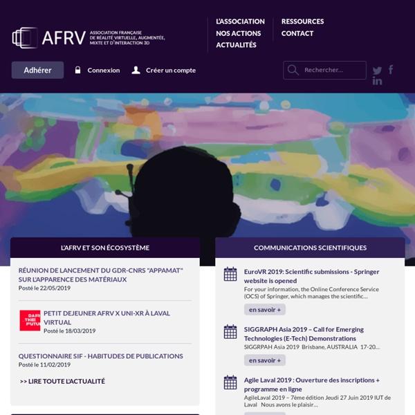 AFRV, Association Française de Réalité Virtuelle, Augmentée, Mixte et d'Interaction 3D