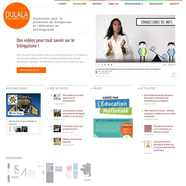 D'Une Langue A L'Autre (DULALA) - L'association pour les enfants bilingues et les diversités interculturelles