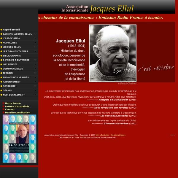 Association Internationale Jacques Ellul - Accueil