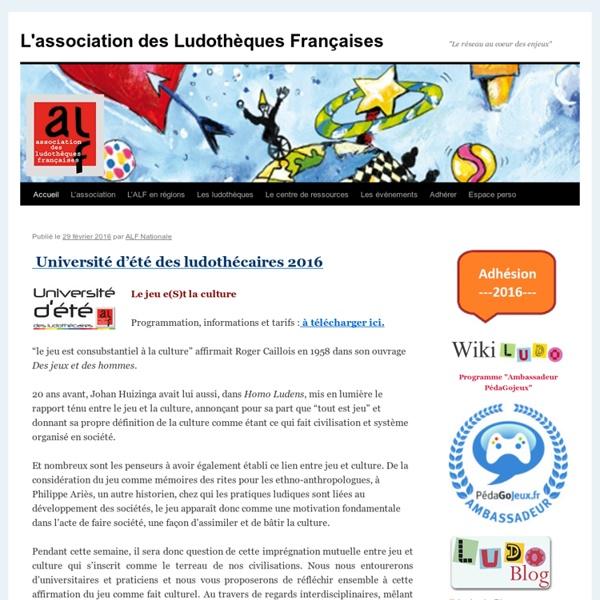 L'association des Ludothèques Françaises