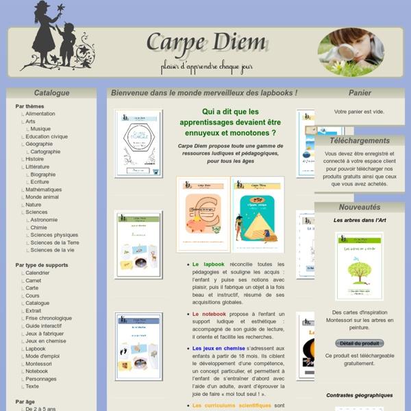Association Carpe Diem : Bienvenue dans le monde merveilleux des lapbooks !