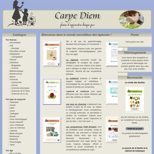 Ciation Carpe Diem : Bienvenue dans le monde merveilleux des lapbooks !