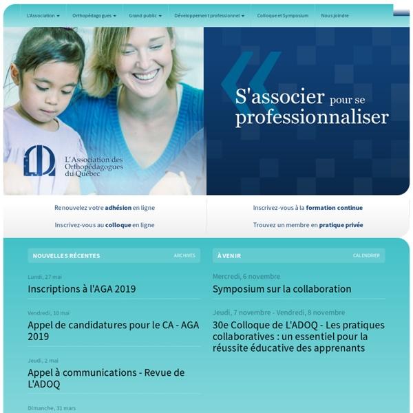 L'ADOQ - L'Association des orthopédagogues du Québec