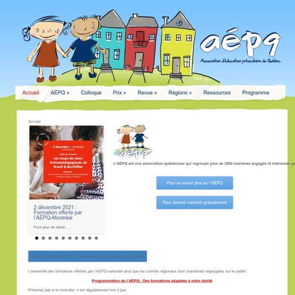 Association d'éducation préscolaire du Québec - Association d'éducation préscolaire du Québec