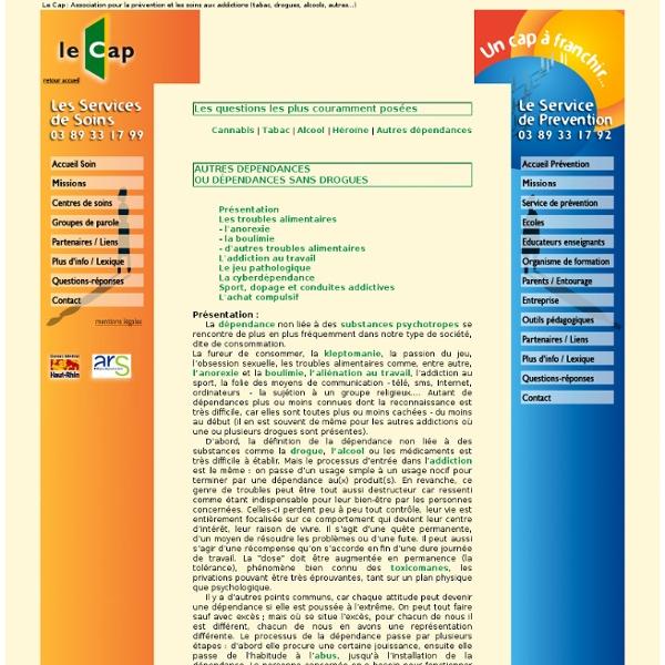 Le Cap : Association pour la prévention et les soins aux addictions