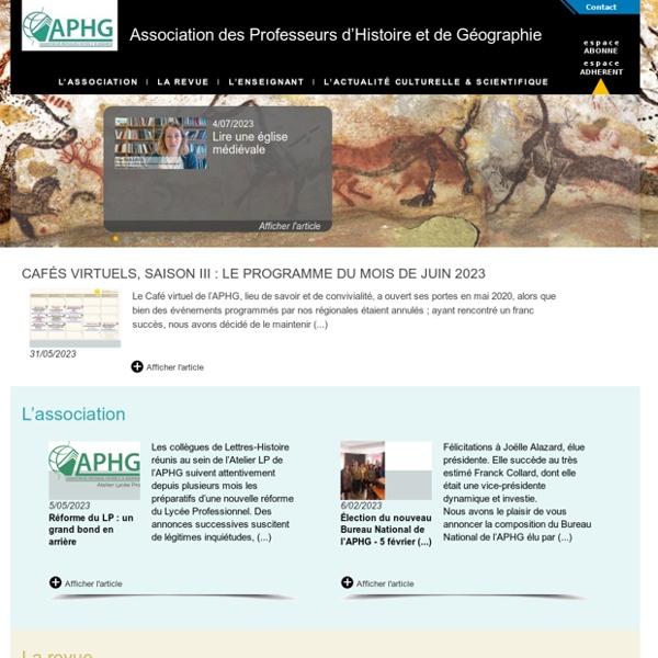 APHG - Association des Professeurs d'Histoire et de Géographie
