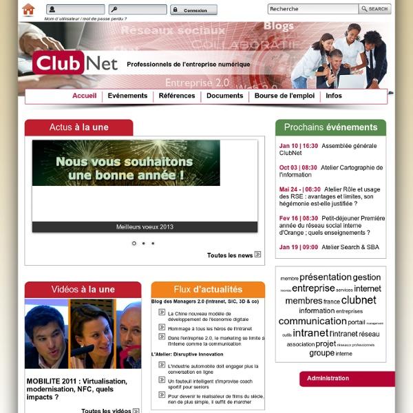 Clubnet, Association des professionnels de l'Intranet et des TICS