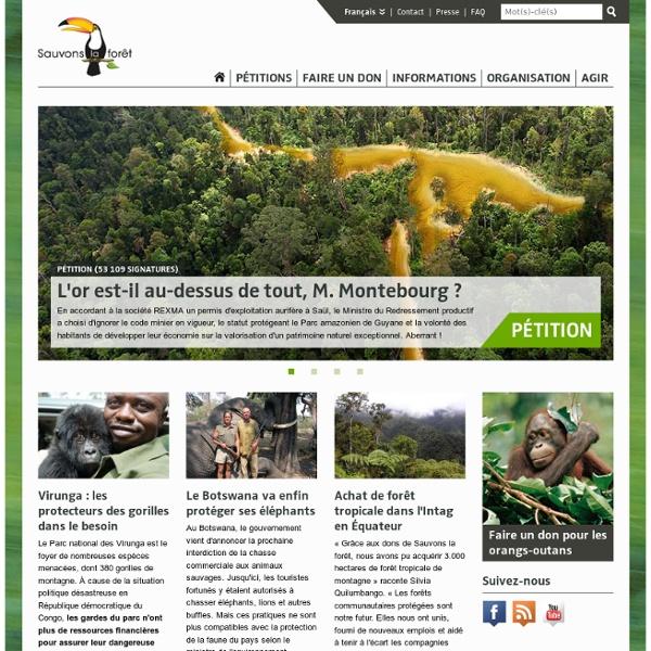 Sauvons la forêt - Association pour la protection des forêts tropicales