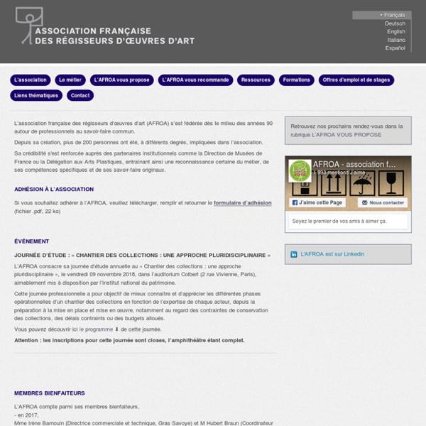 Association française des régisseurs d'œuvres d'Art