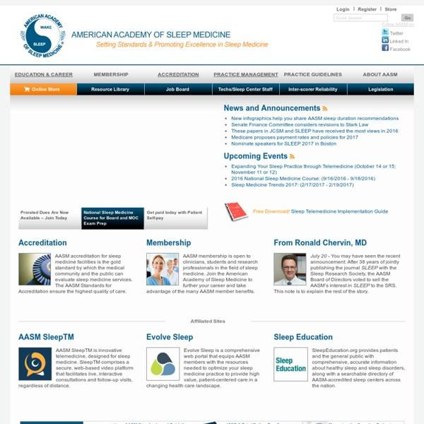 American Academy of Sleep Medicine – Association for Sleep Clinicians and Researchers