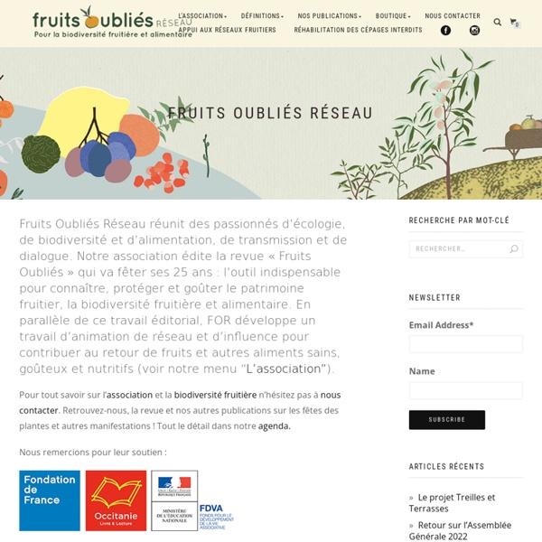 Fruits Oubliés Réseau - Un relais pour le maintien de la diversité fruitière