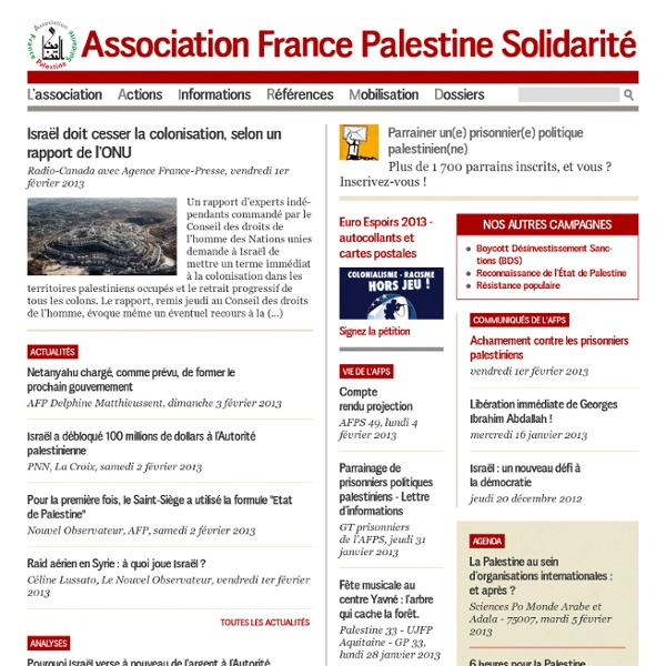 Http://www.france-palestine.org - Association France Palestine Solidarité