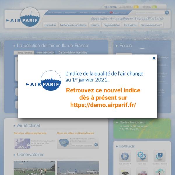 Airparif - Association de surveillance de la qualité de l'air en Île-de-France