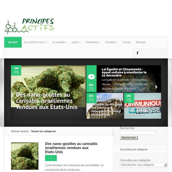 Principes actifs – Association d'information et de prévention concernant l'usage du cannabis thérapeutique