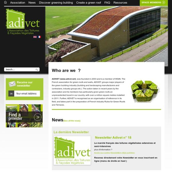 ADIVET - Association des Toitures Vegetales