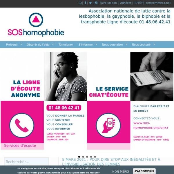 Association nationale de lutte contre la lesbophobie, la gayphobie, la biphobie et la transphobieLigne d'écoute : 01.48.06.42.41