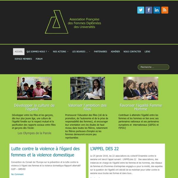 AFFDU Association Française des Femmes Diplômées des Universités