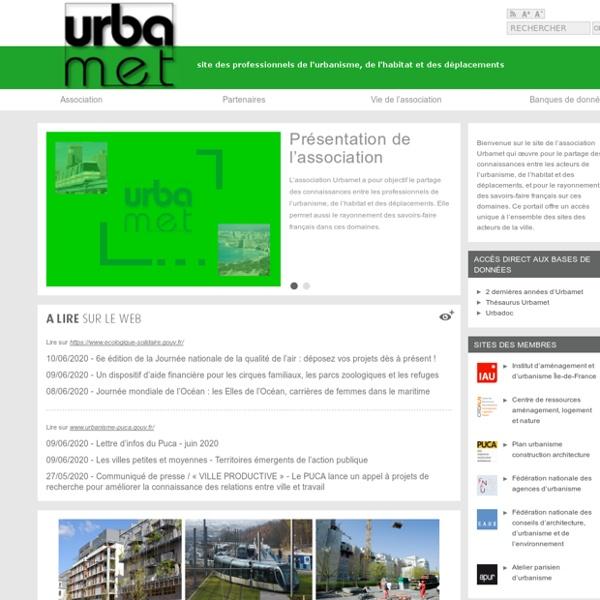 Urbamet : site des professionnels de l'urbanisme