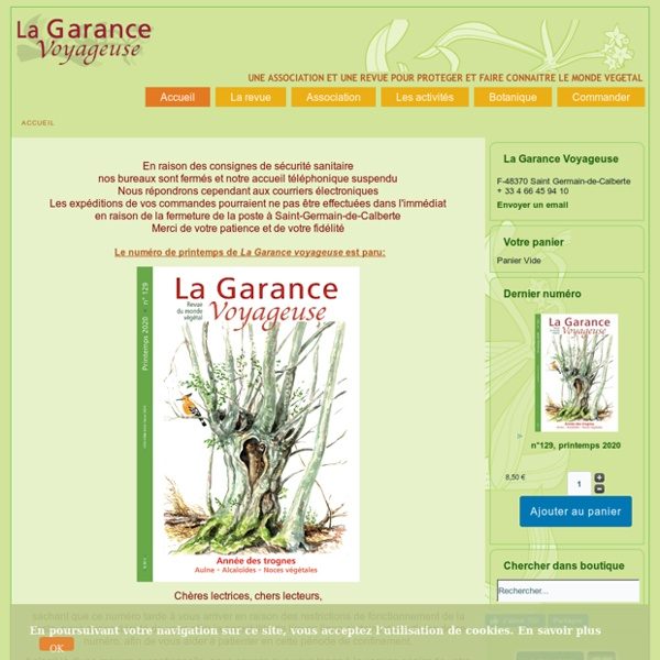 La Garance voyageuse - une association et une revue de vulgarisation botanique - La Garance voyageuse - une association et une revue de vulgarisation botanique