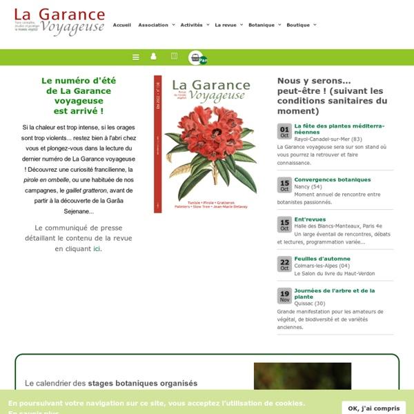 La Garance voyageuse - une association et une revue de vulgarisation botanique