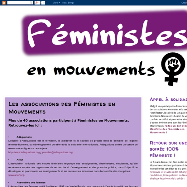 Les associations des Féministes en Mouvements