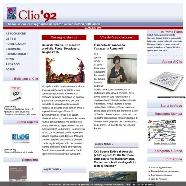Clio 92 - Associazione di insegnanti e ricercatori sulla didattica della storia