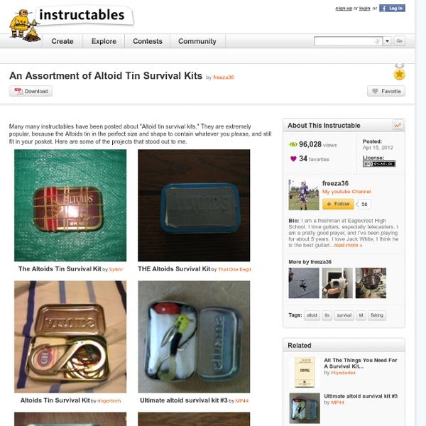 An Assortment of Altoid Tin Survival Kits