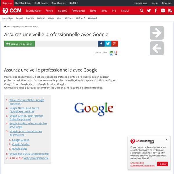 Assurez une veille professionnelle avec Google