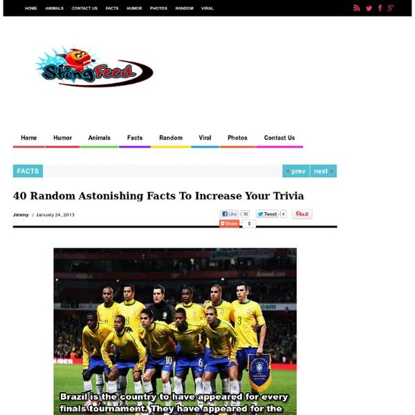 40 Random Astonishing Facts To Increase Your Trivia