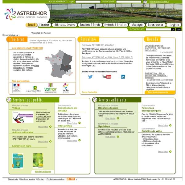 Astredhor : Astredhor, Institut technique de l'horticulture