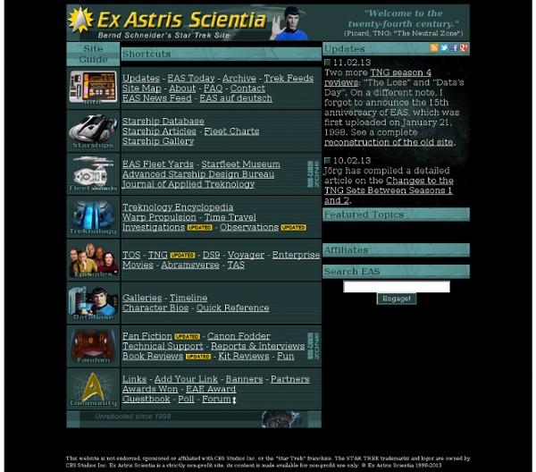 Bernd Schneider's Star Trek Site