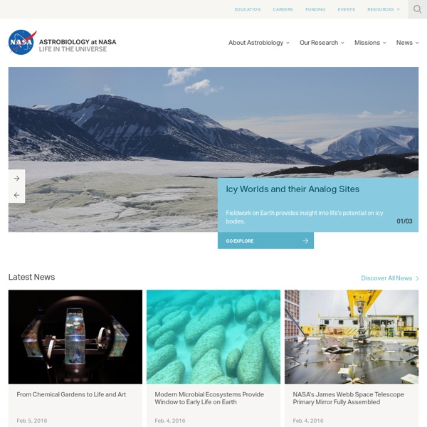 NASA Astrobiology: Life in the Universe