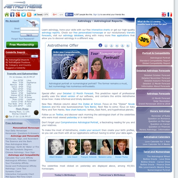 Astrology - Astrological Reports - Horoscope By Email - Horary Astrology - 43,794 Free Horoscopes