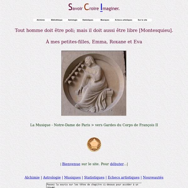 Alchimie Astrologie Statistiques Musique Echecs