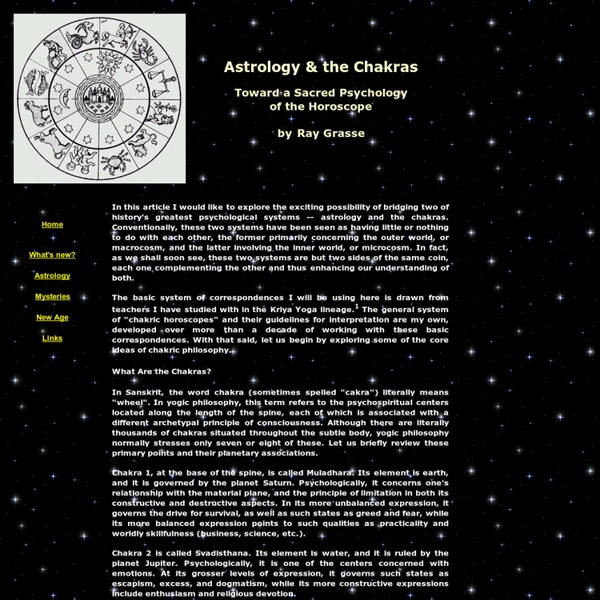 Astrology & the Chakras