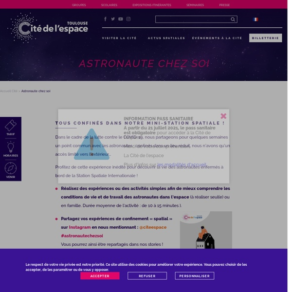 Astronaute chez soi - Cité de l'Espace