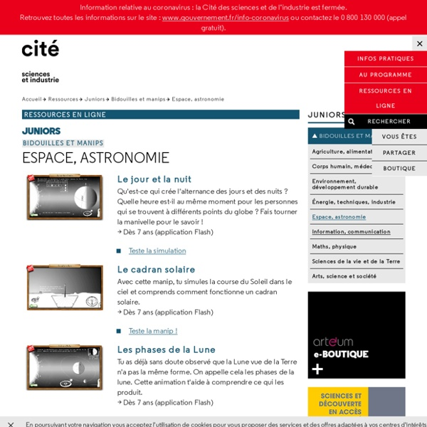 Espace, astronomie - Bidouilles et manips