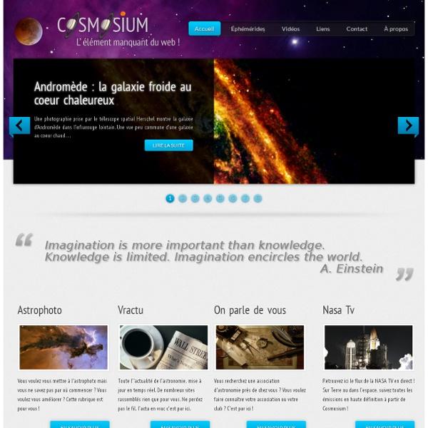 Actualité, astronomie, cosmologie, espace
