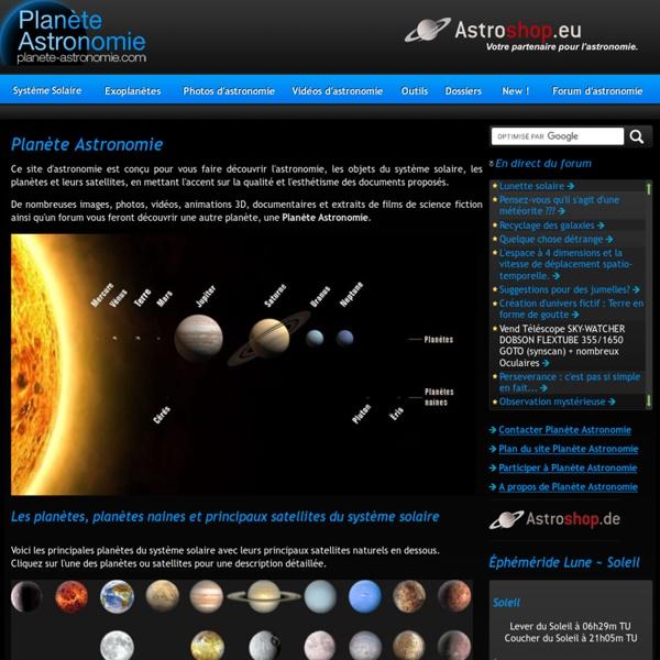 Planète Astronomie