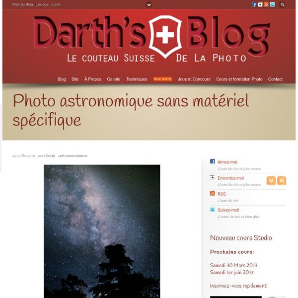 Photo astronomique sans matériel spécifique