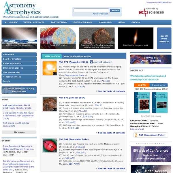 Astronomy & Astrophysics (A&A)