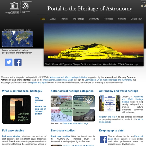 UNESCO Astronomy and World Heritage Webportal - Home
