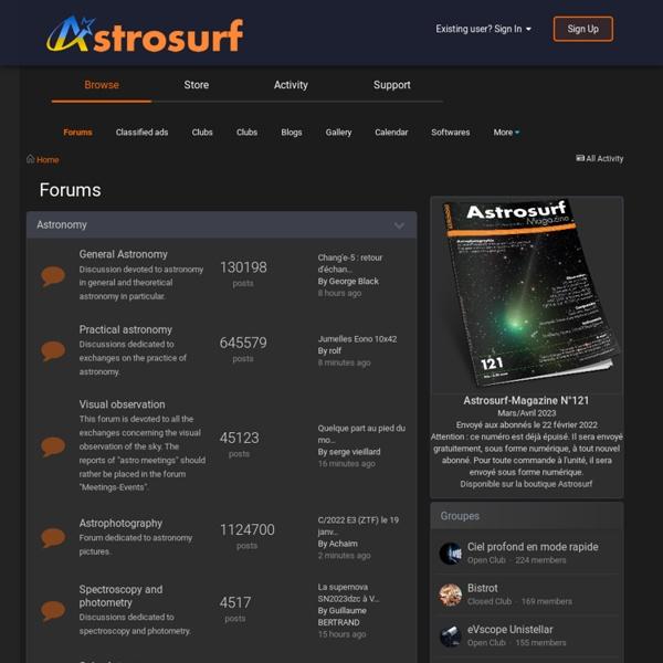 Astronomie Amateur - AstroSurf