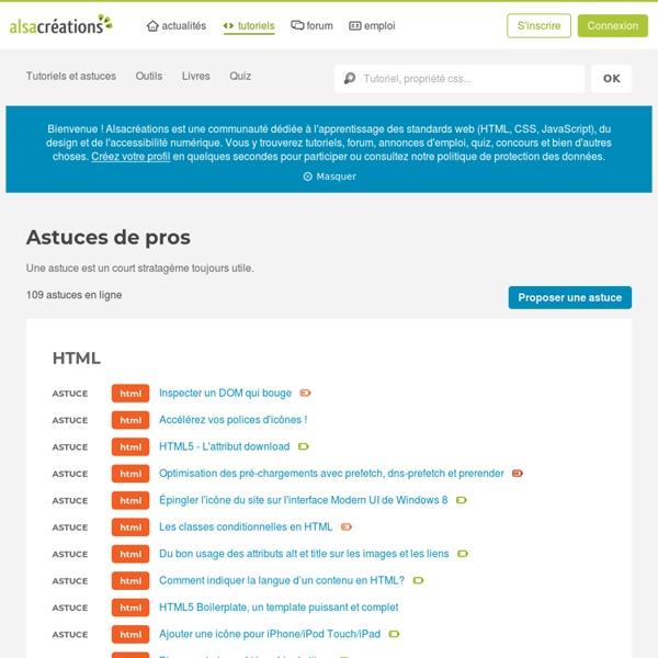 Alsacréation - section HTML & CSS + JS