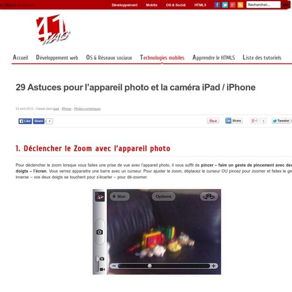 29 Astuces pour l'appareil photo et la caméra iPad / iPhone