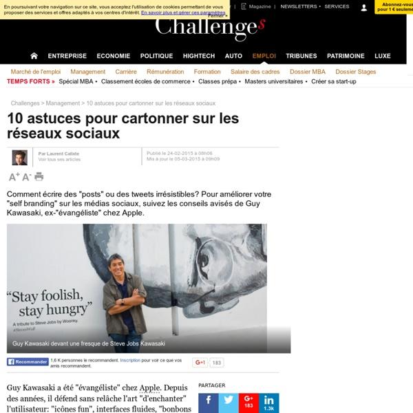 """10 astuces pour """"cartonner"""" sur les réseaux sociaux Facebook, Twitter, LinkedIn..."""