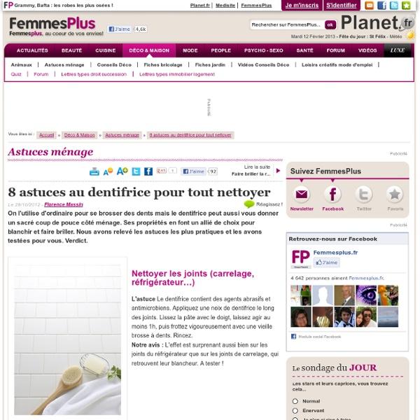 8 astuces au dentifrice pour tout nettoyer - Femmes Plus : Combler les petites rayures sur le verre