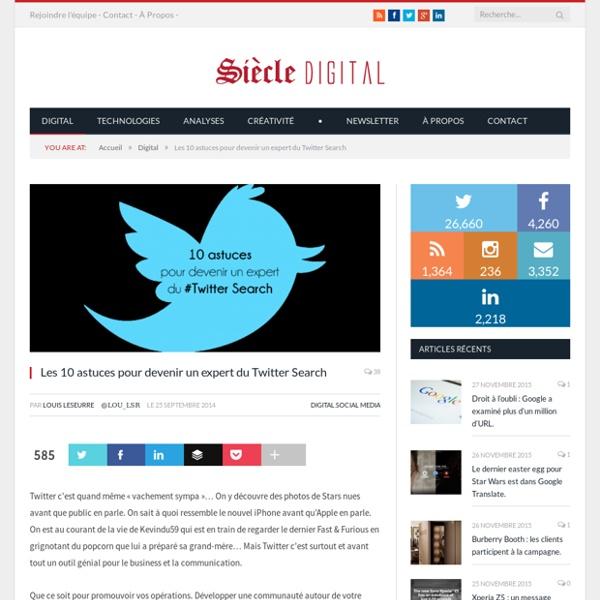 Les 10 astuces pour devenir un expert du Twitter Search